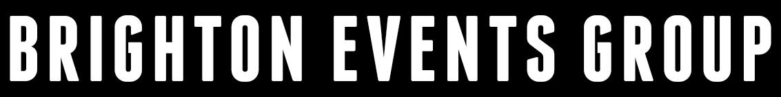 BEG logo white on black