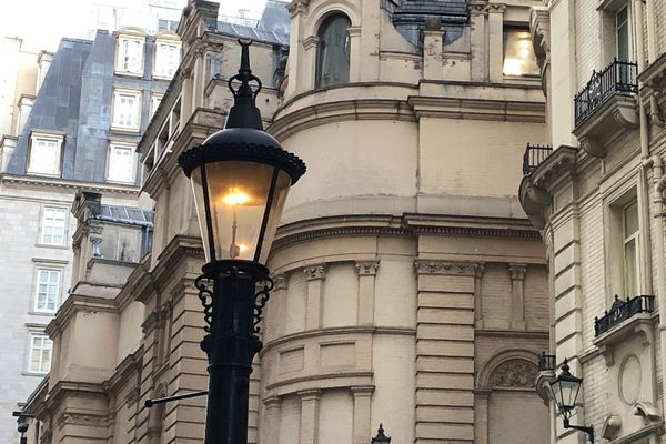 Carting Lane Sewer Lamp in London, England